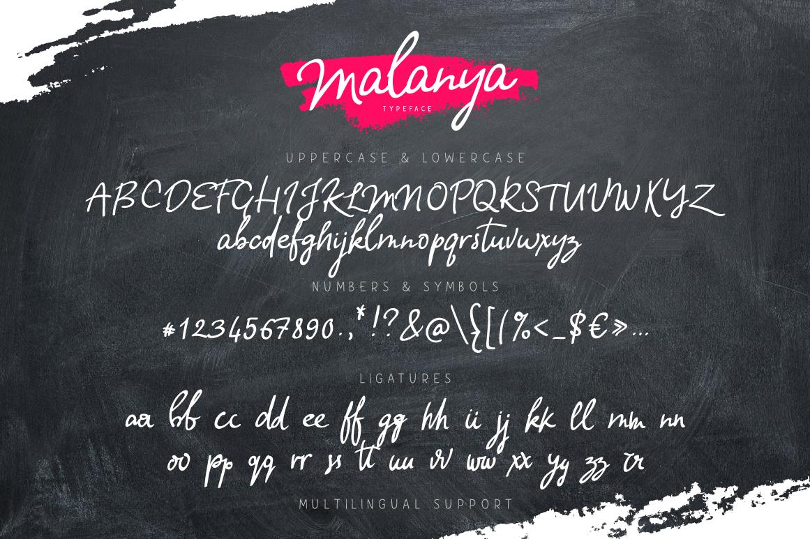Malanya Typeface example image 5
