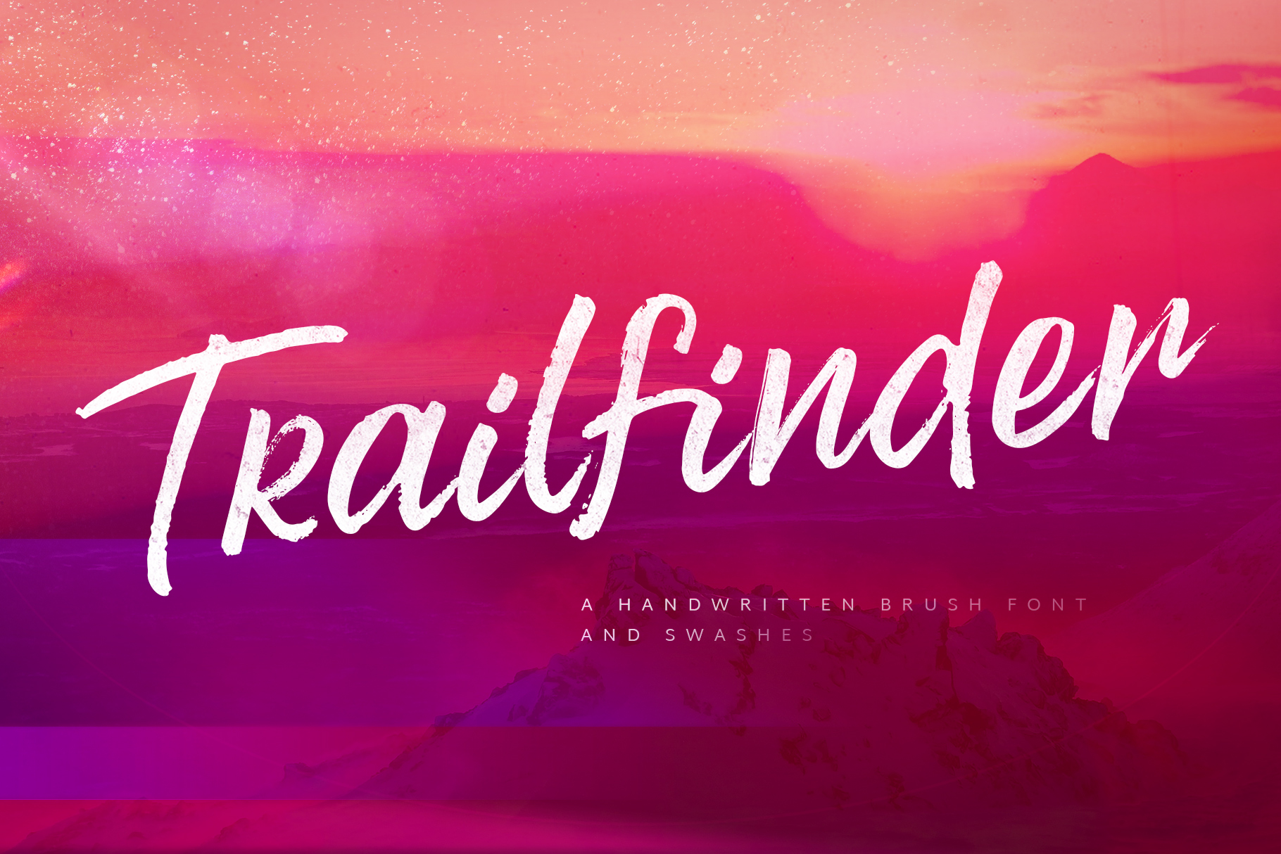 Trailfinder | A Brush Script Font example image 1