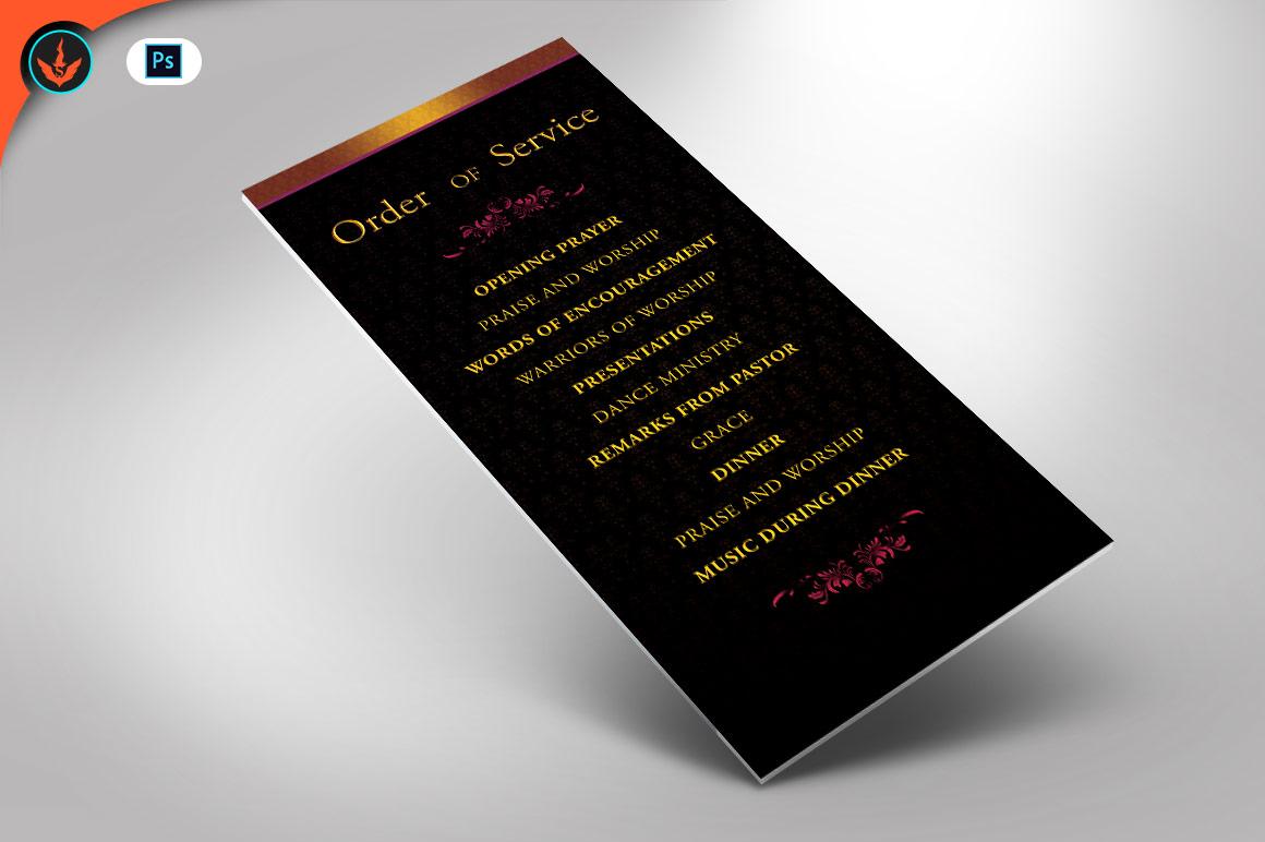 Birthday Celebration Dinner Flyer Photoshop Template