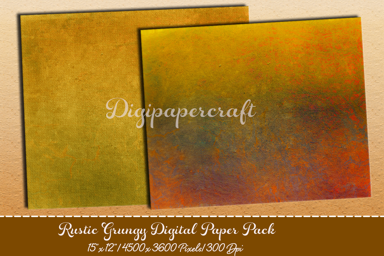 Old rustic digital paper. Grungy paper pack example image 2