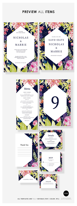 Modern Botanical Wedding Suite example image 3