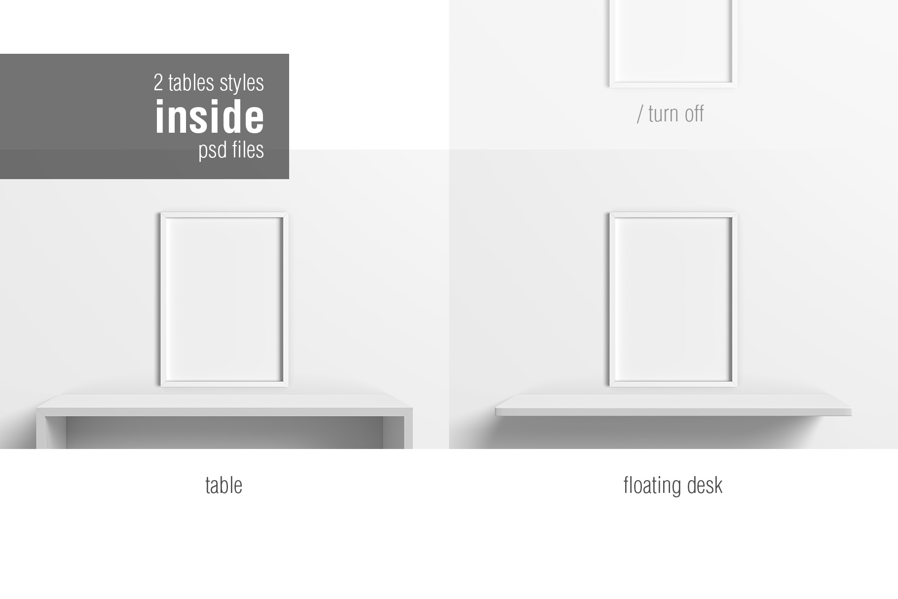 5x7 Inches Photo Frames Mockups example image 7