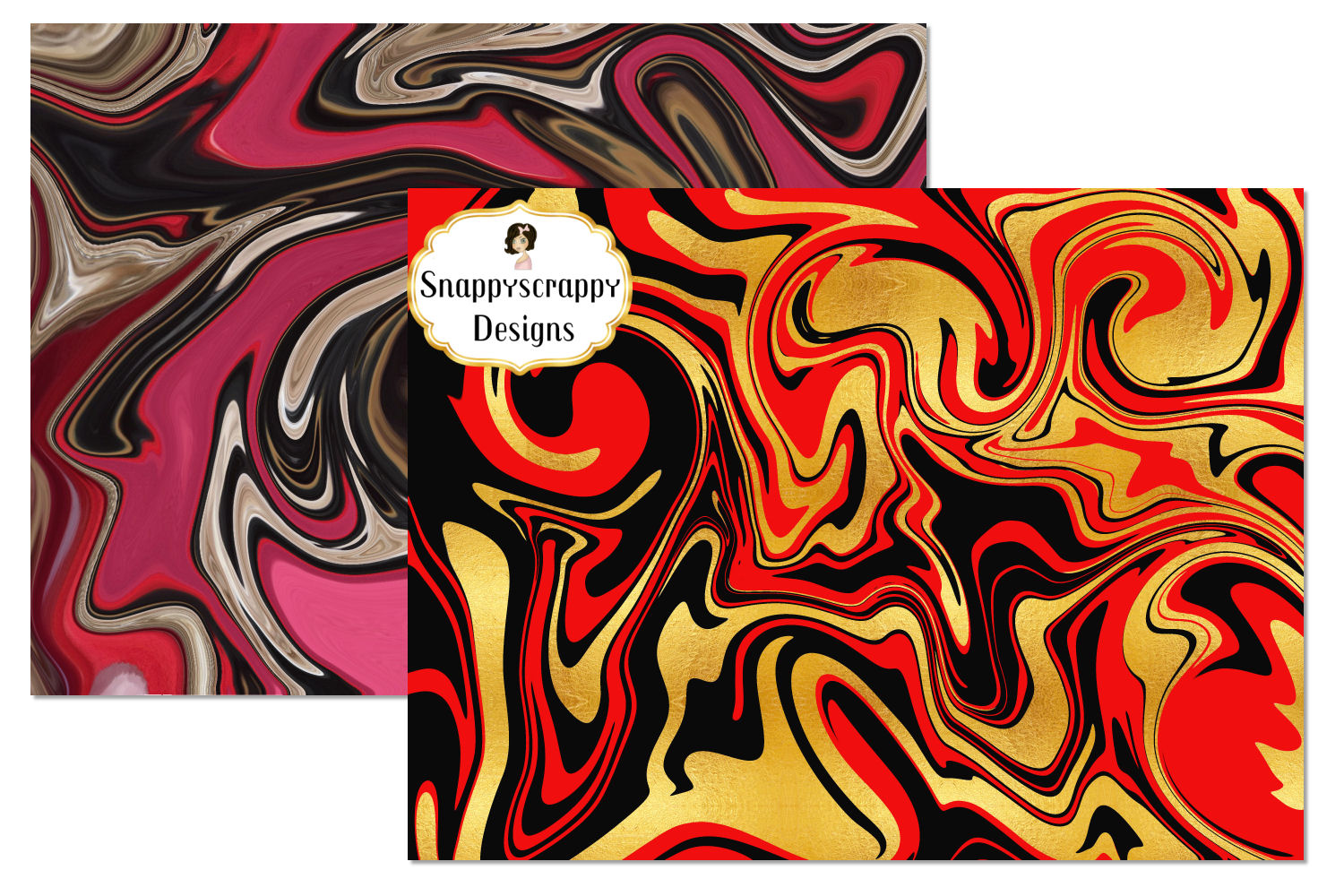 Marble Background Papers example image 2