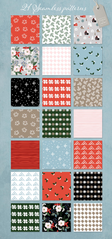 Merry Christmas set, 166 elements example image 10