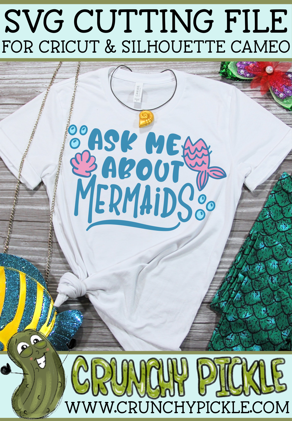 Ask Me About Mermaids SVG example image 4