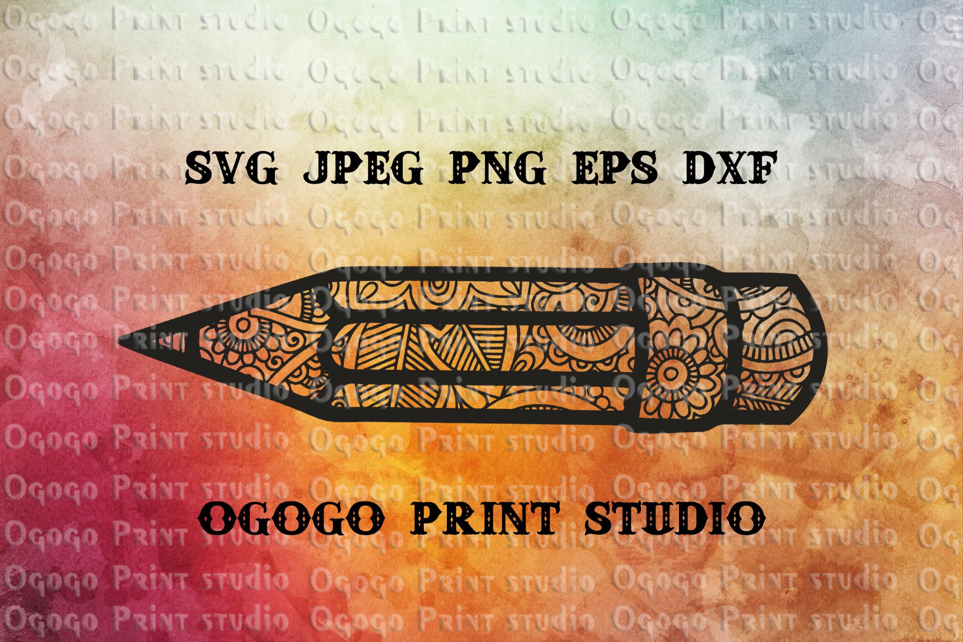 Pencil SVG, Zentangle SVG, 100 Days School svg, Teacher svg example image 1