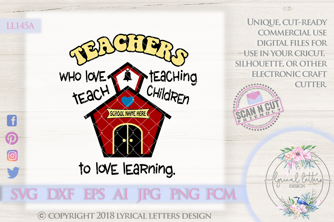 Teachers Who Love Teaching SVG Cut File LL145A example image 1