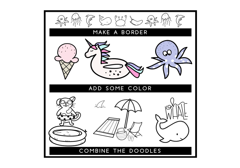 Summer Break / Summer Doodle Font  example image 6
