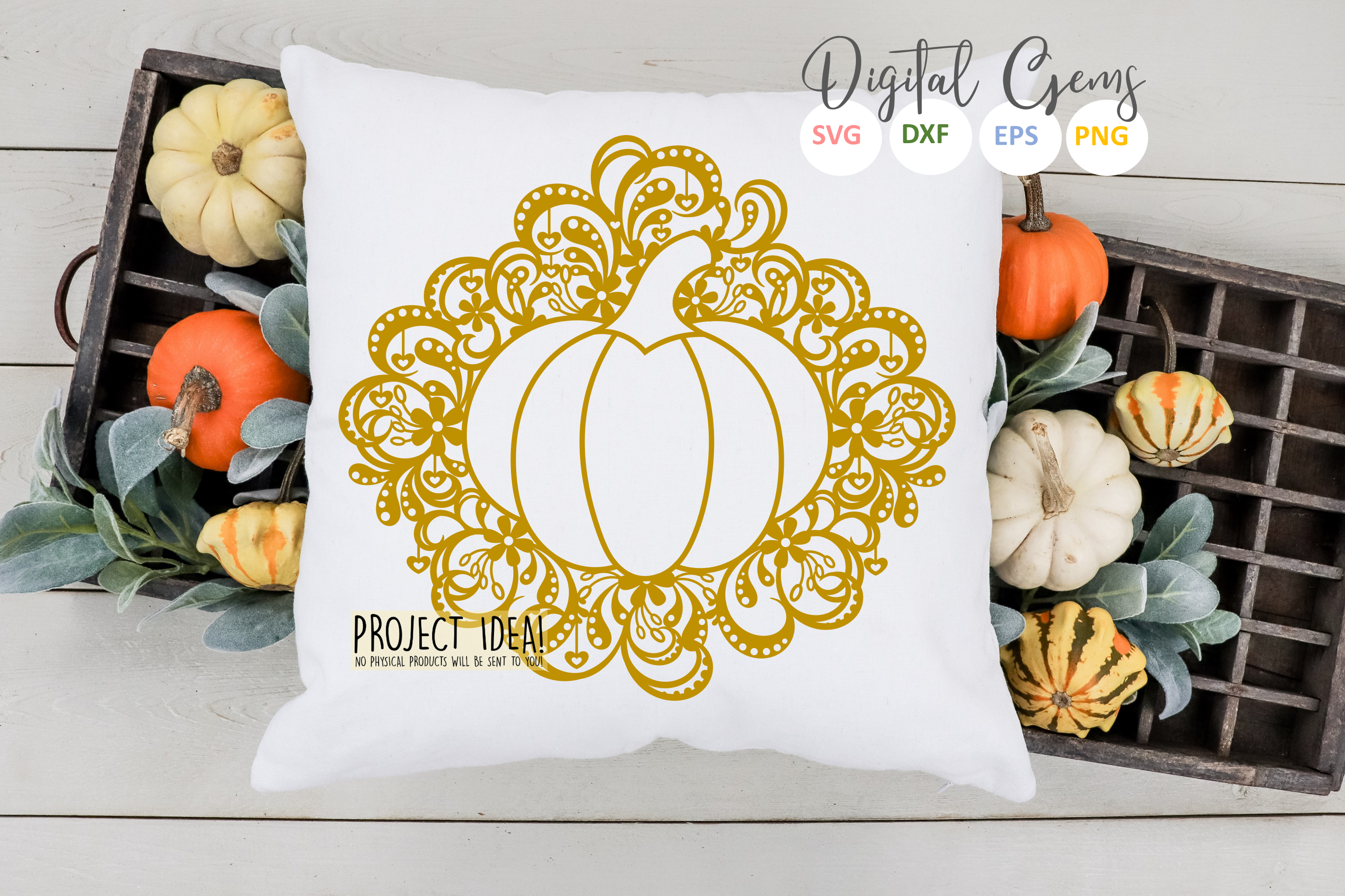 Pumpkin Paper Cut SVG / DXF / EPS Files example image 2