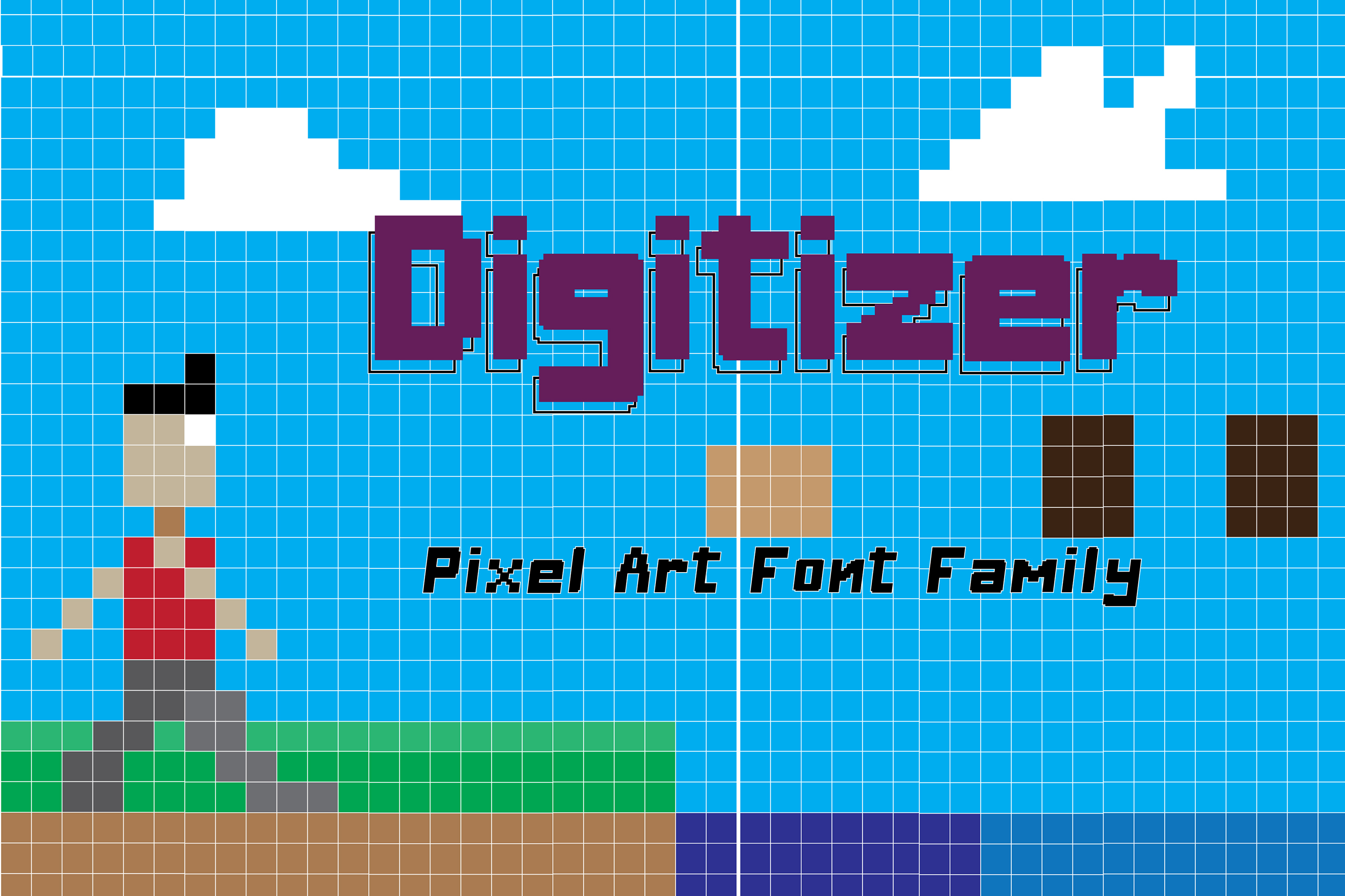 Digitizer - Pixel Font Family example image 1