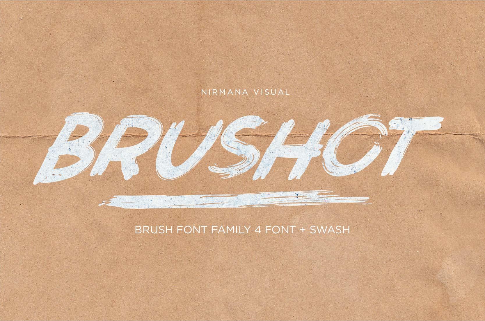 Brushot 4 Font Plus Swash example image 1