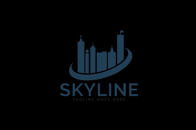 Skyline logo design. Real estate or Construction agency logo example image 2