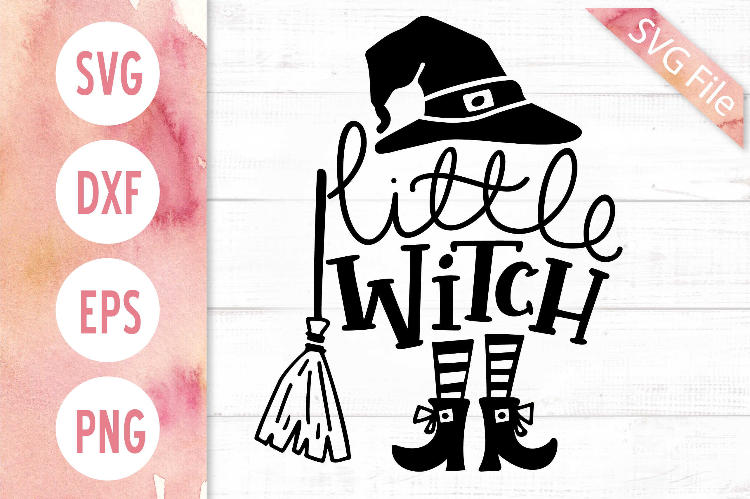The Little Witch SVG Bundle, Halloween SVG DXF PNG EPS Files example image 6