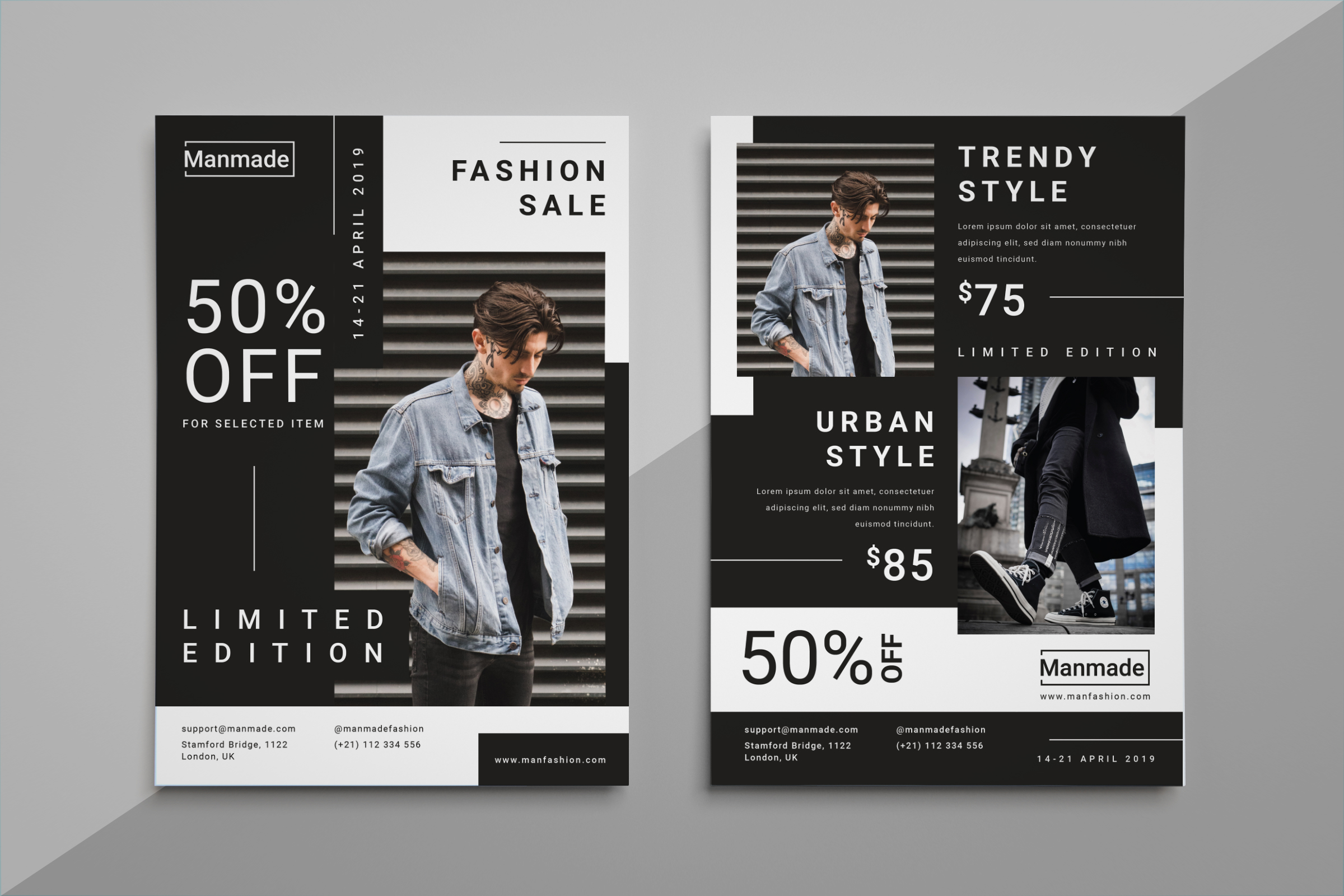 Man Made - Fashion Flyer example image 1