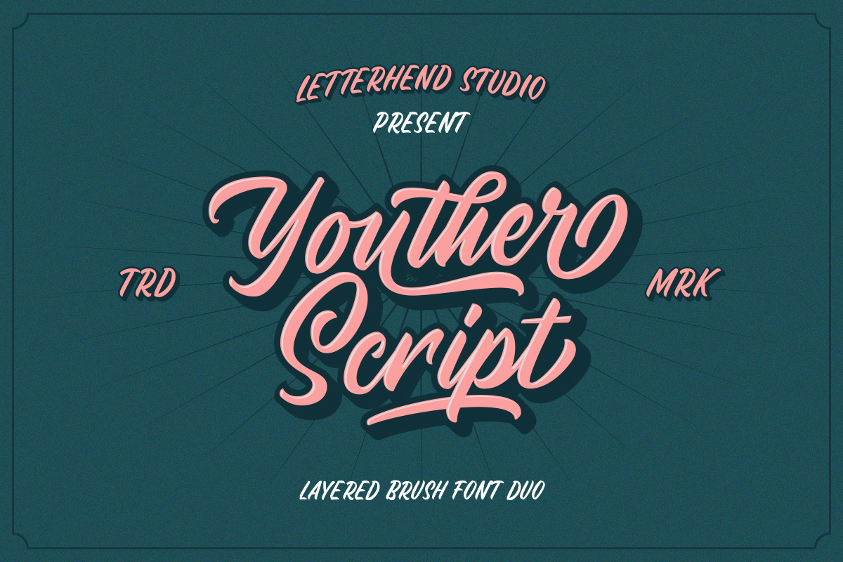 Youther Script - Layered Font Duo example image 2