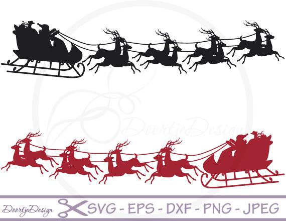 Santa Claus with Reindeers example image 1