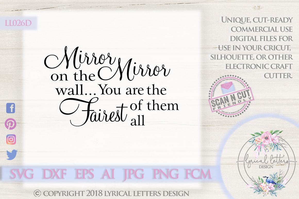 Mirror Mirror Funny Bathroom Mirror Quote SVG DXF LL026D example image 1