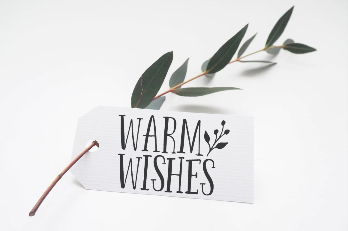 Warm Wishes Christmas SVG Cutting Files example image 2