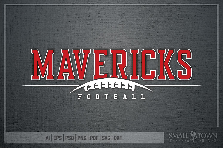 Maverick Football, Football Team, Sport, PRINT, CUT & DESIGN example image 5