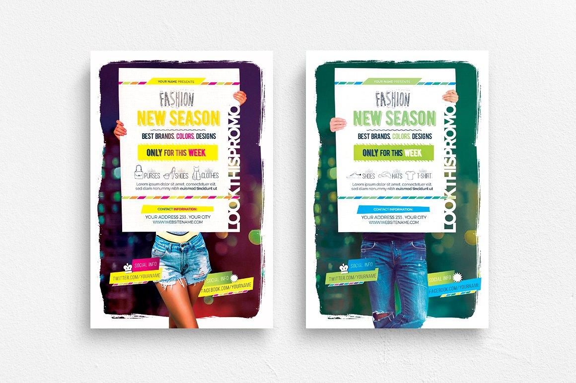 Fashion New Season Flyer Template example image 1