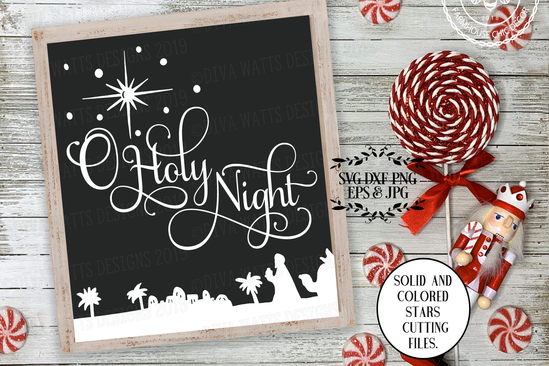 O Holy Night Christmas Cutting File example image 1