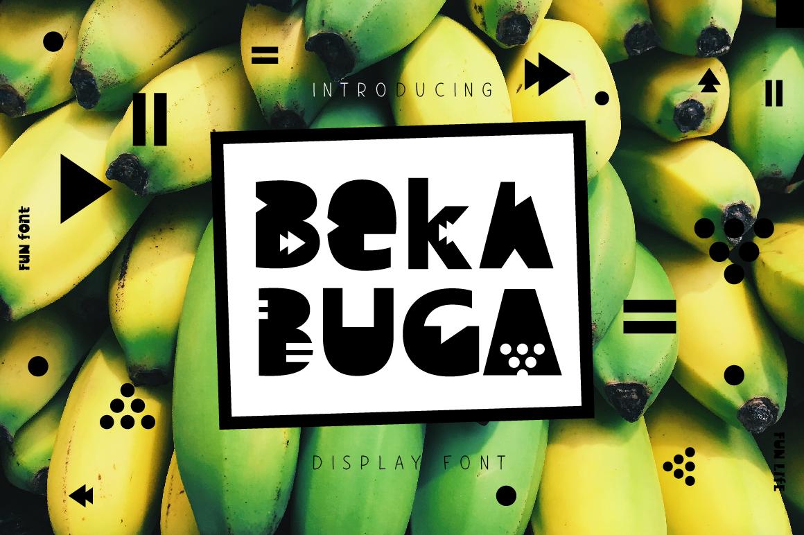 Bekabuga Display Font example image 1