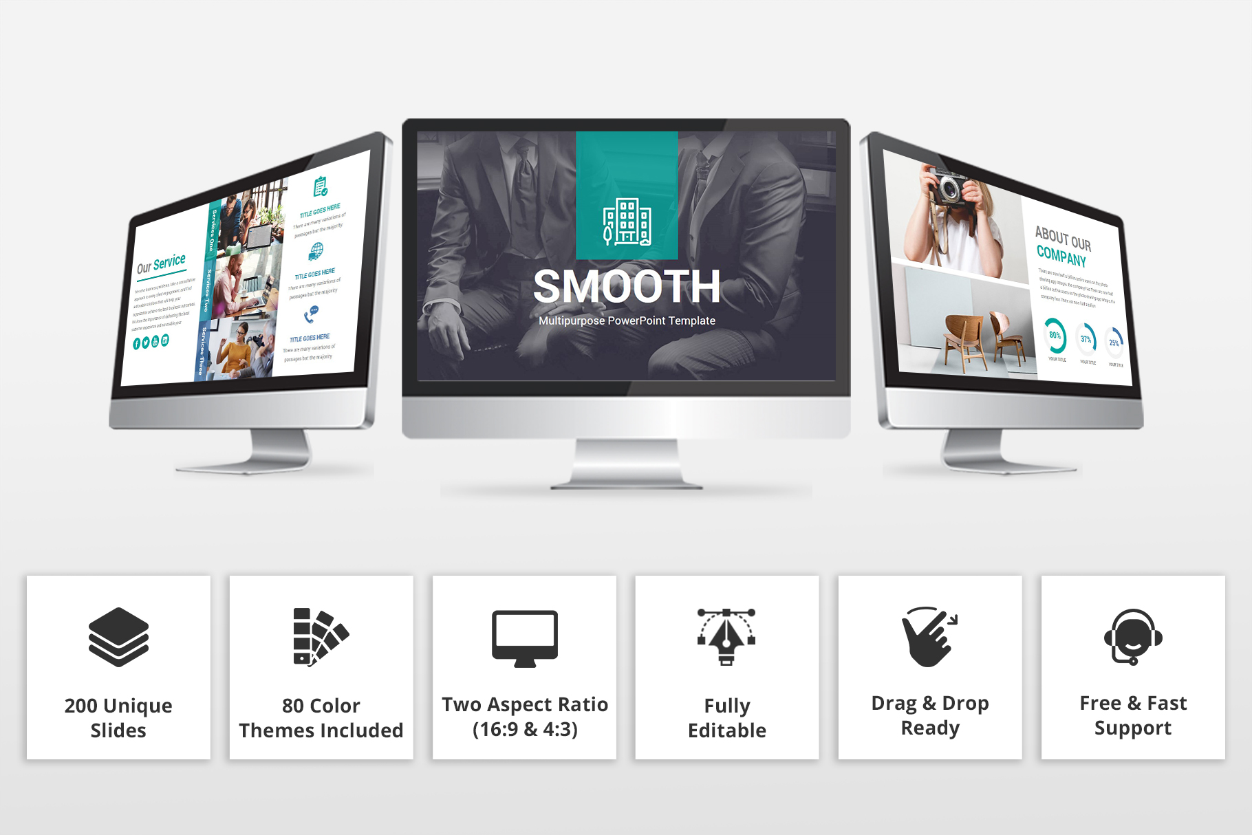 Smooth multipurpose PowerPoint Presentation Template example image 2