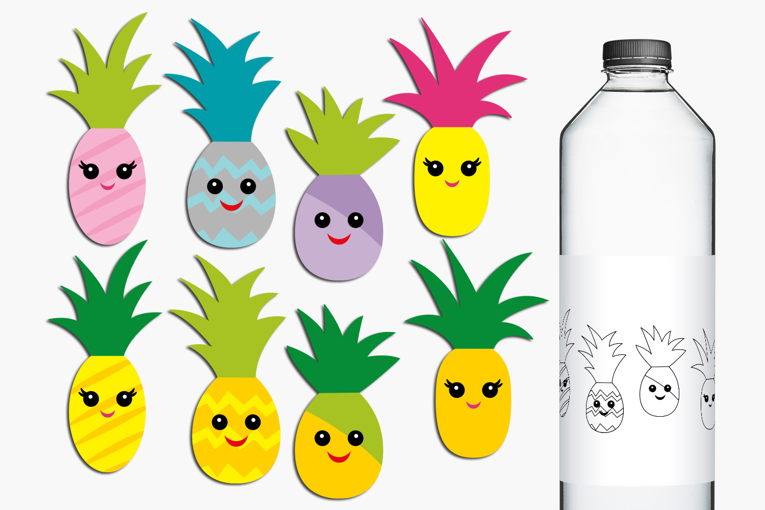Pineapple Party Illustrations Bundle example image 2