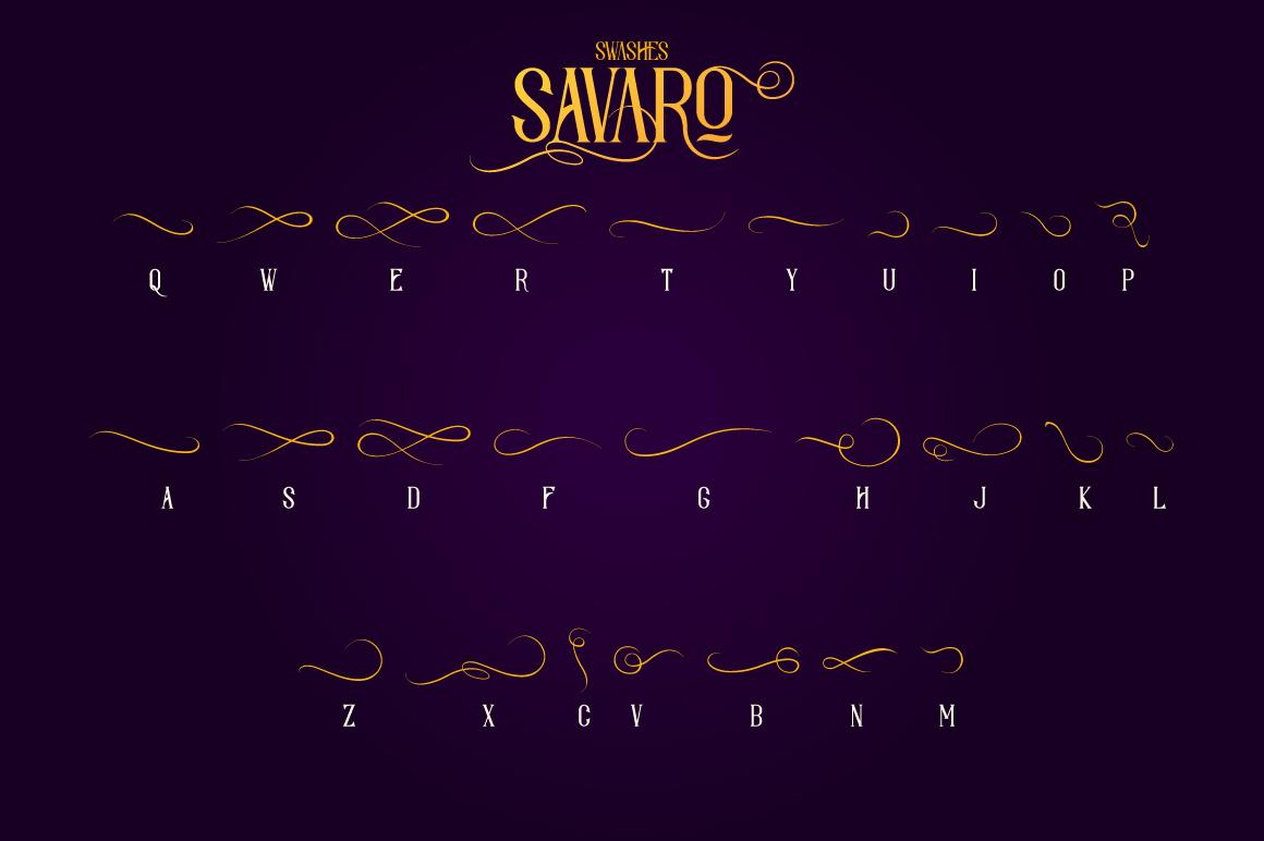 Savaro Typeface example image 5