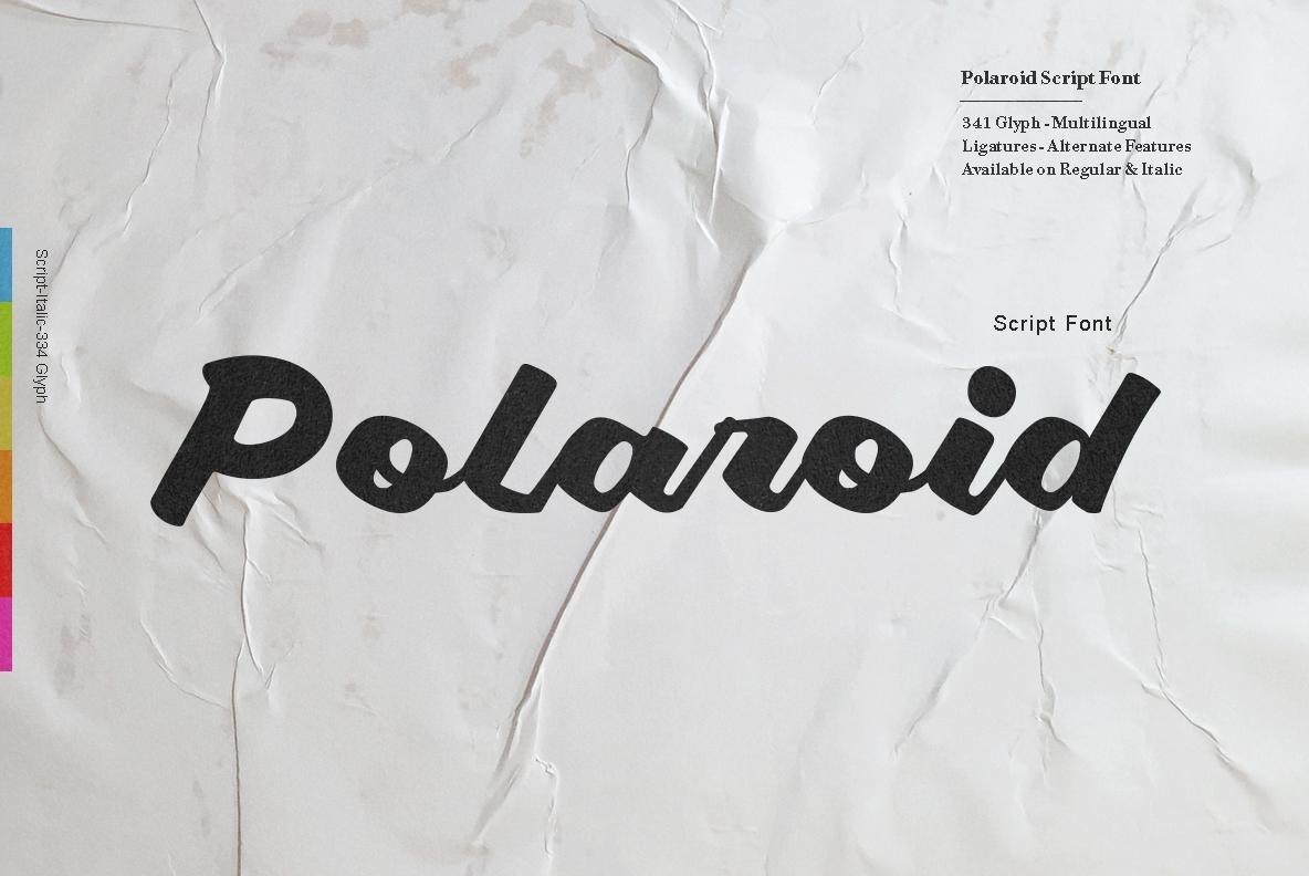 Polaroid Font example image 1