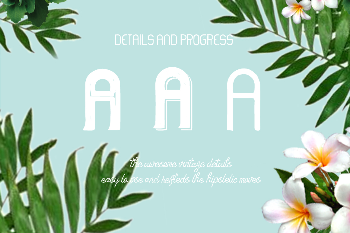 Hipstetic font family example image 3