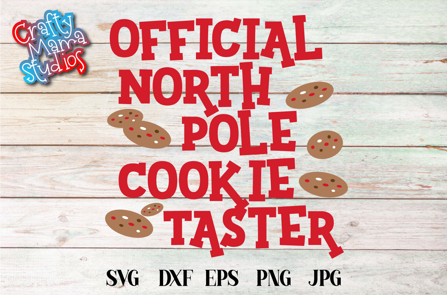 Official North Pole Cookie Taster, SVG Christmas Sublimation example image 1
