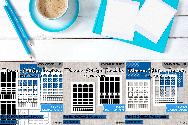 Sticker Templates Bundle Vol. 10 - Erin Condren Horizontal example image 3