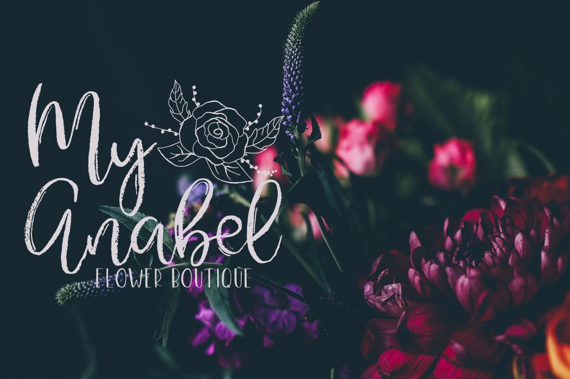 Gypsy Soul.Textured Brush Font+bonus example image 4