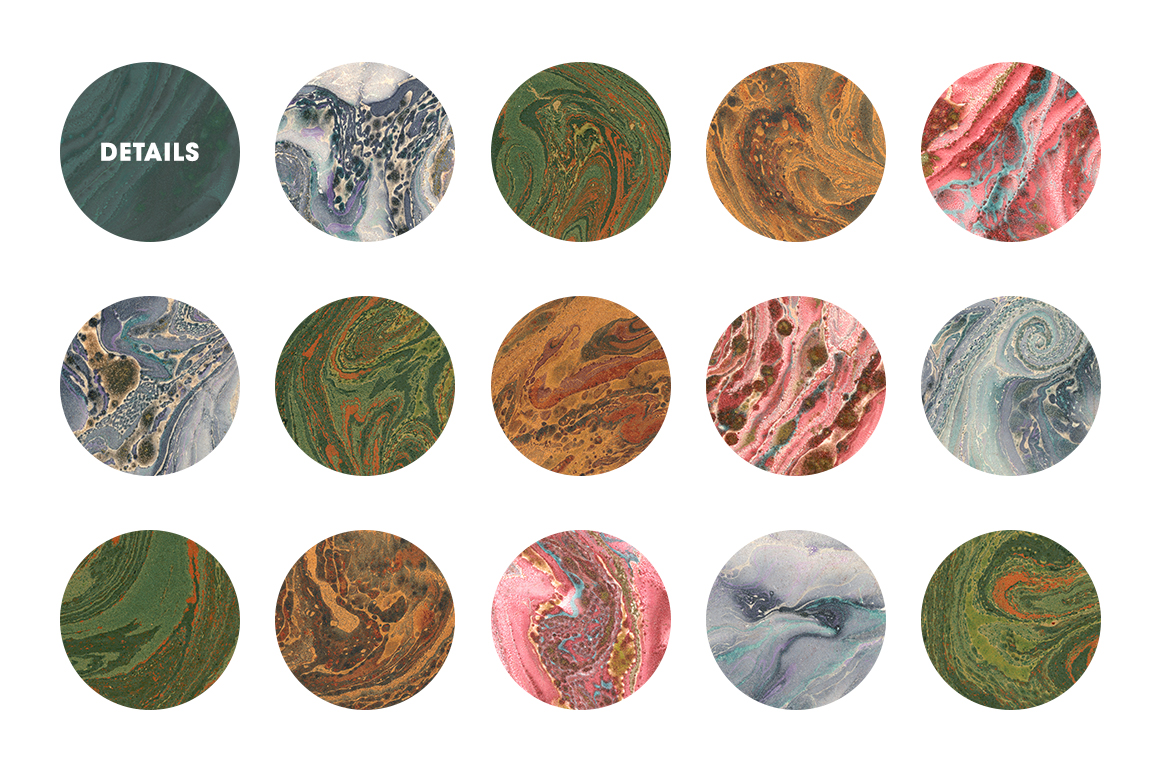 15 Authentic Marbled Paper Textures example image 6