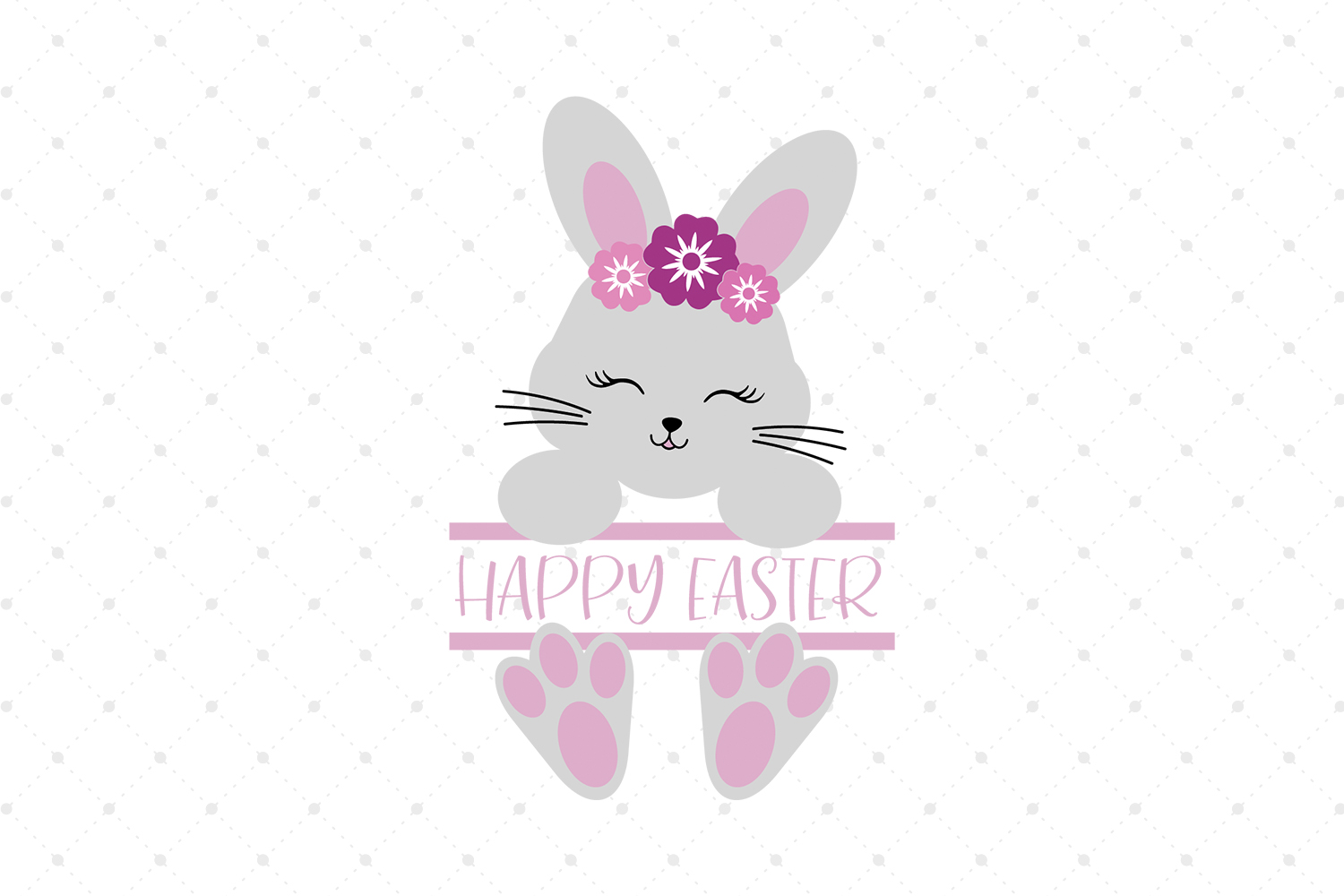 Split Easter Bunny SVG Cut files example image 1