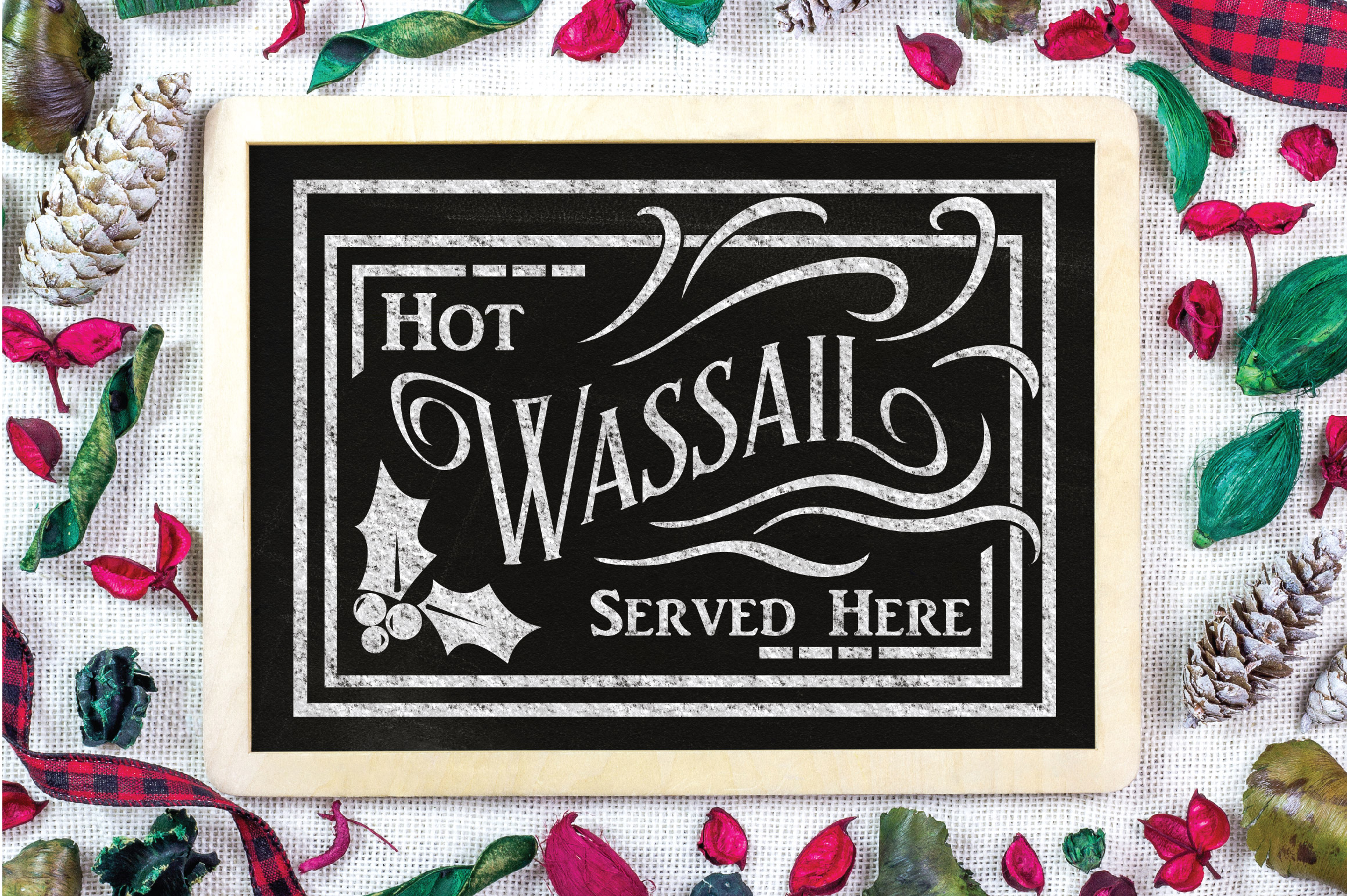 Christmas SVG Cut File - Hot Wassail SVG DXF PNG EPS JPG example image 2