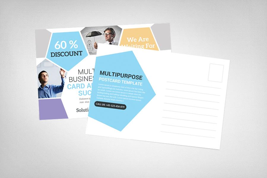 Multiuse Clean Corporate Postcard example image 2