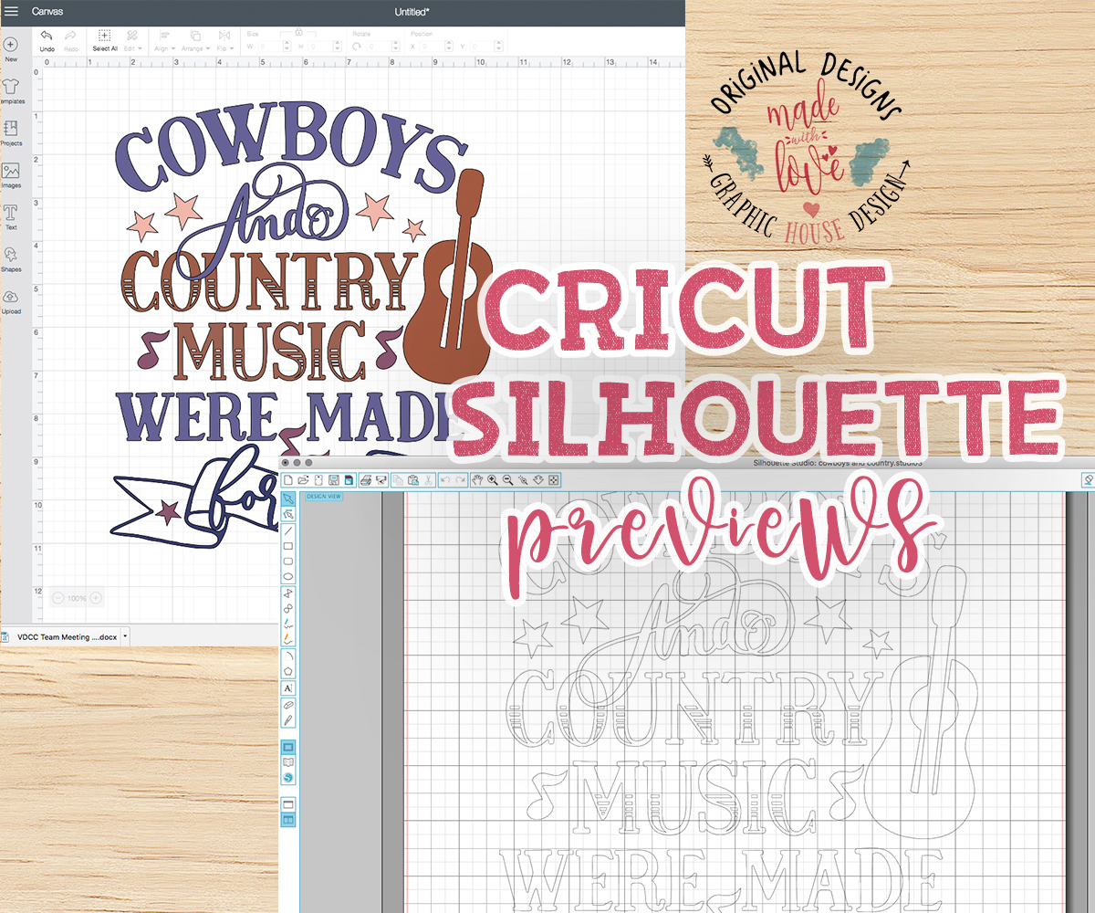 Cowboys and Country Music Cut File in SVG, DXF, PNG example image 2