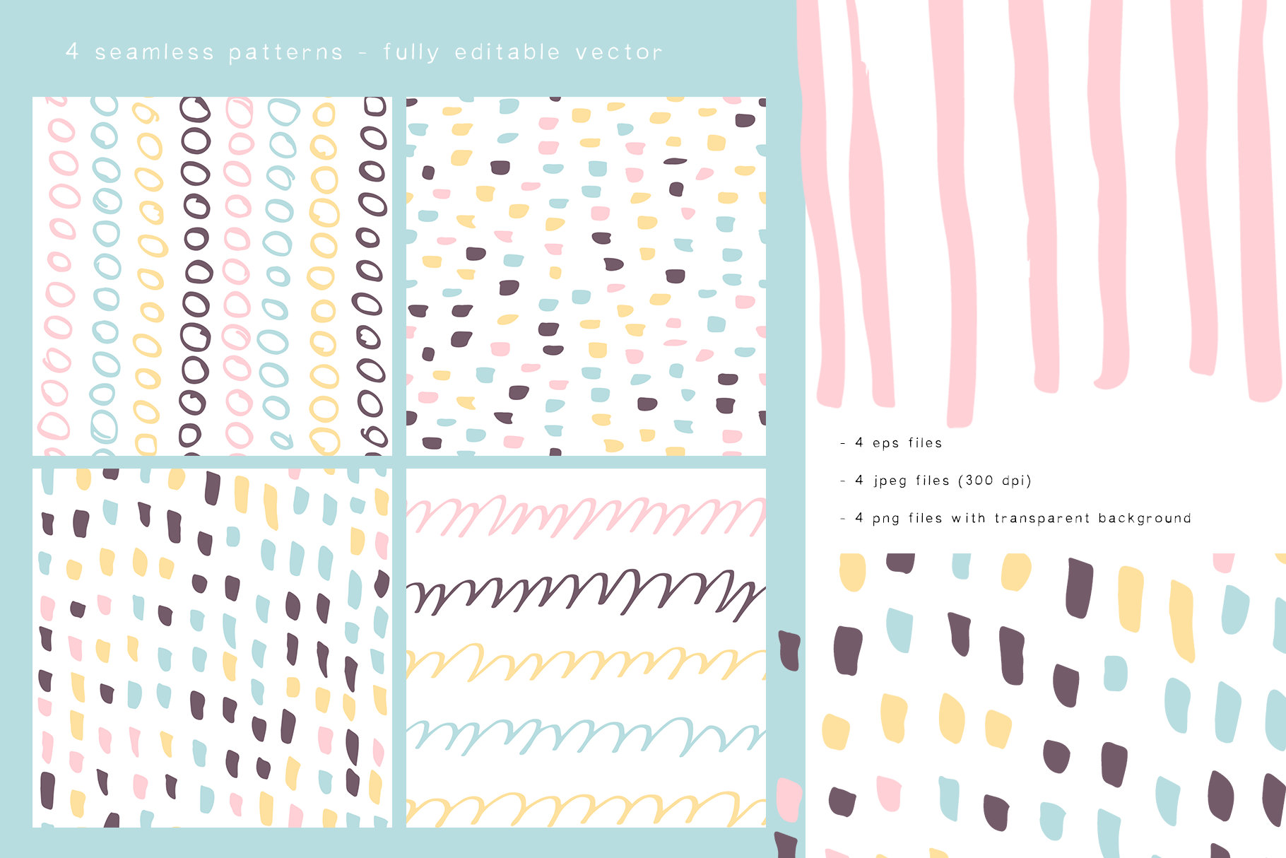 Abstract design elements. Collages & seamless patterns example image 5