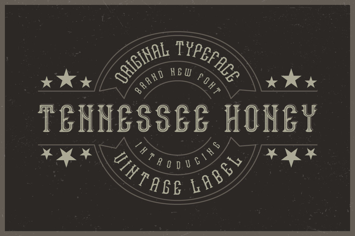 Tennessee honey font example image 1