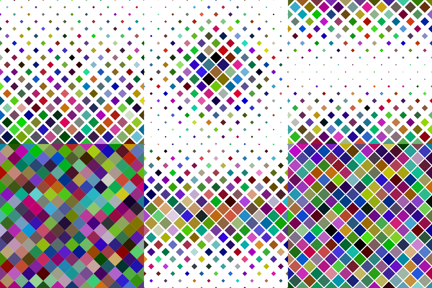 24 Multicolored Square Patterns (AI, EPS, JPG 5000x5000) example image 4
