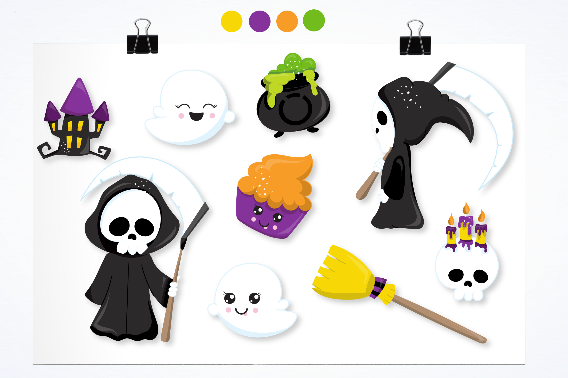 spooky reaper graphics and illustrations example image 5
