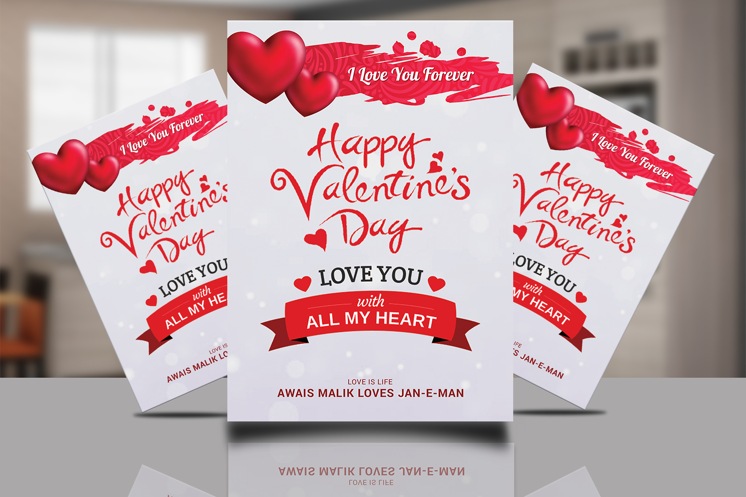 Valentine Day Psd Flyer example image 1