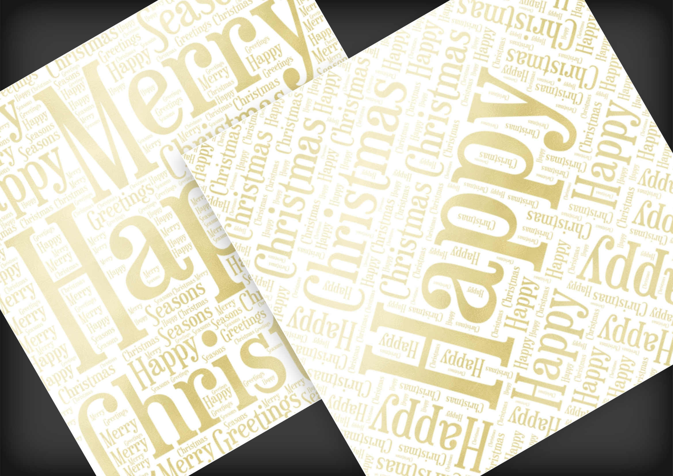 Christmas Soft Gold Word Overlays example image 6