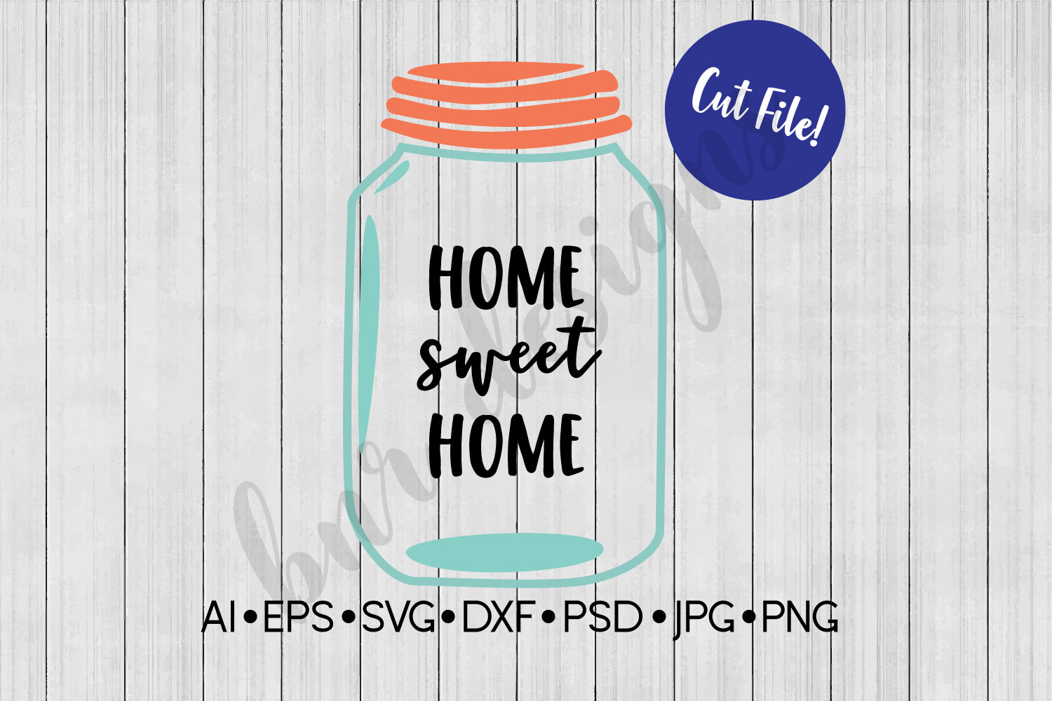 Home Sweet Home SVG, Farmhouse, DXF File, Cut File example image 1