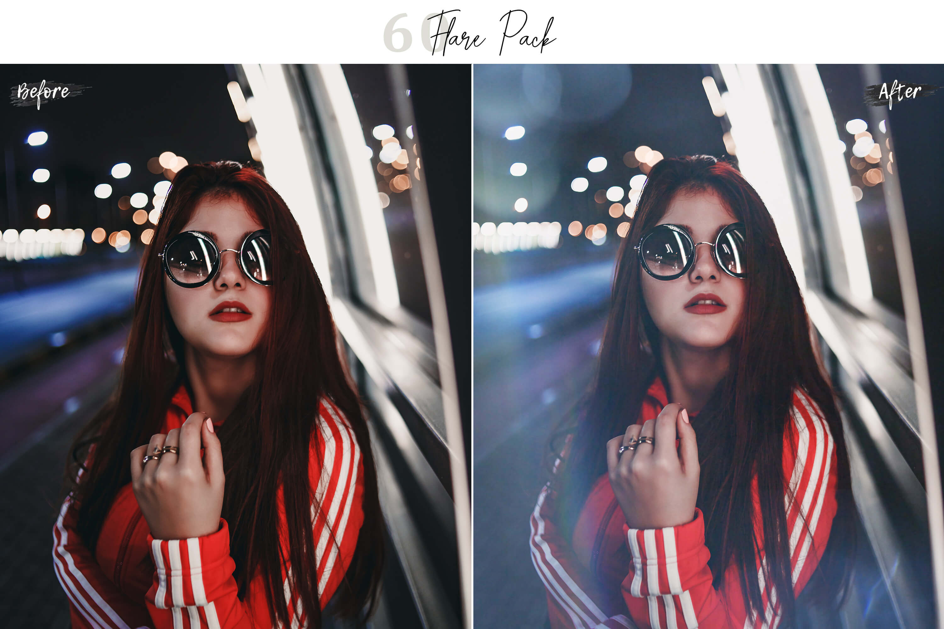 60 Flare Pack 02 lights Effect Photo Overlays example image 8