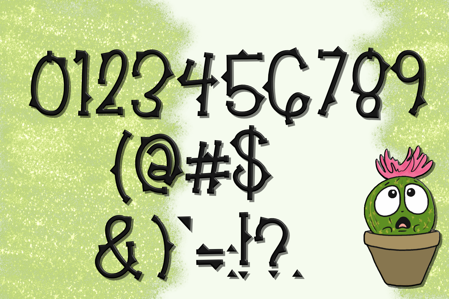 Not So Cuddly Cactus Font example image 3