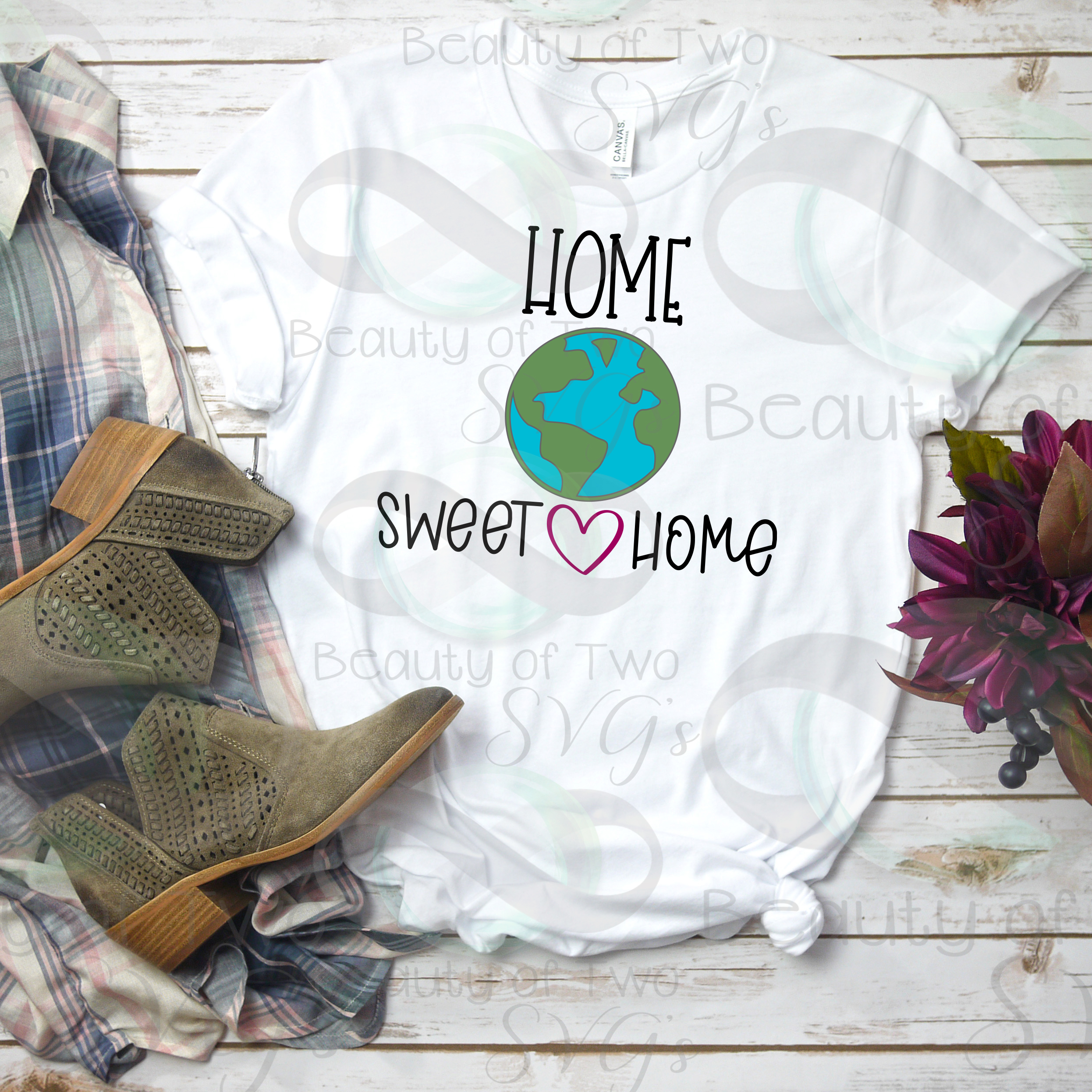 Earth Day svg and png, Home Sweet Home Earth svg, Earth Day example image 2