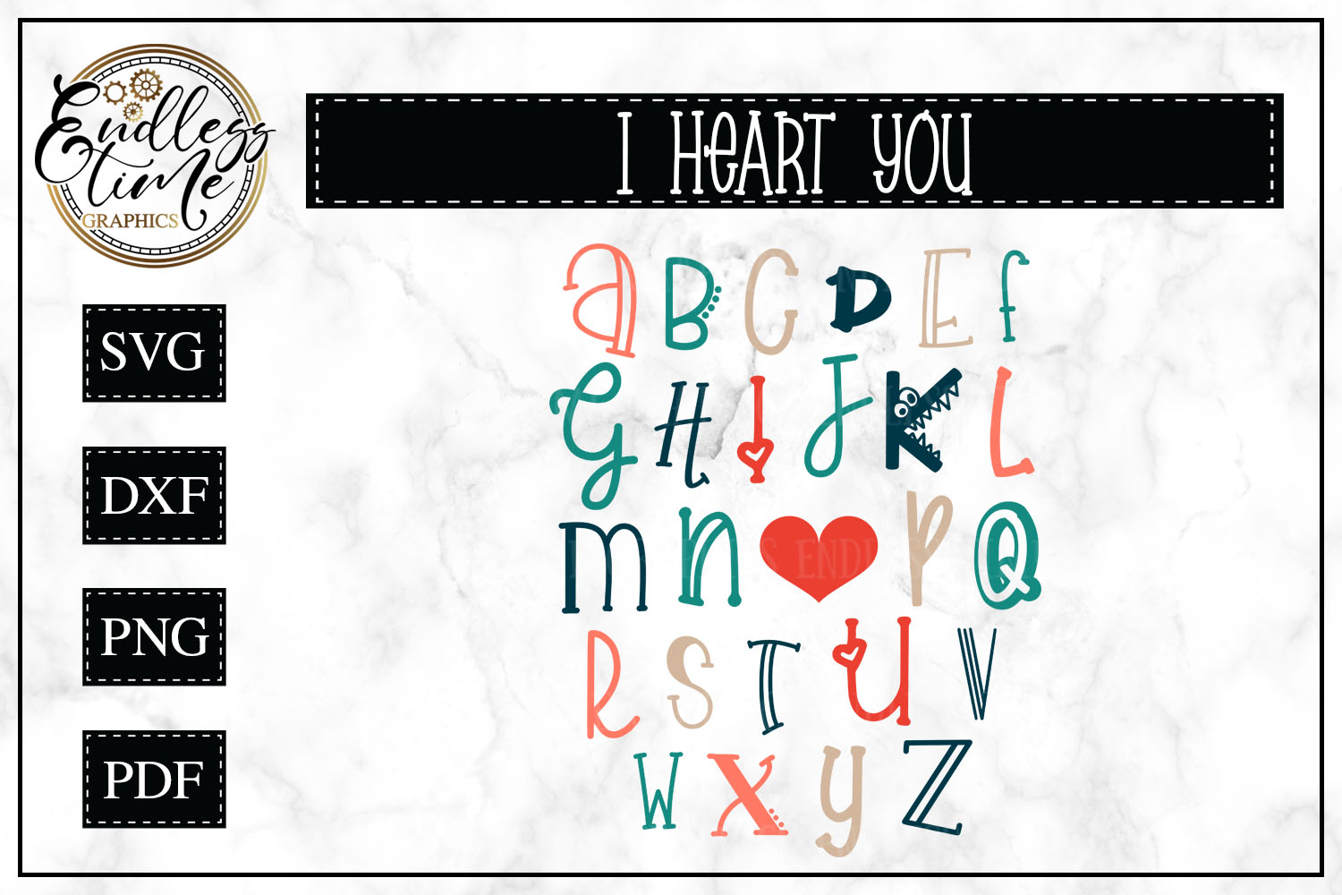Valentine's Day Word Art- I Heart You Collage example image 1